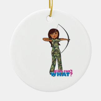 Archer Girl in Camo - Dark Christmas Ornaments