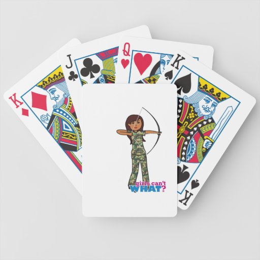 Archer Girl in Camo - Dark Bicycle Poker Cards