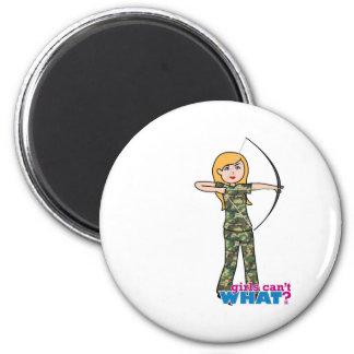 Archer Girl in Camo - Light Magnet