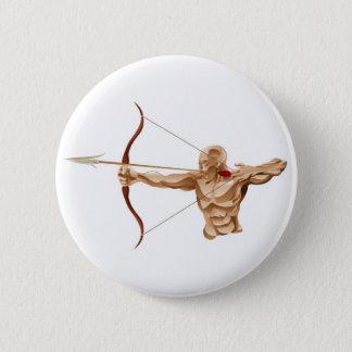 Archer illustration 6 cm round badge