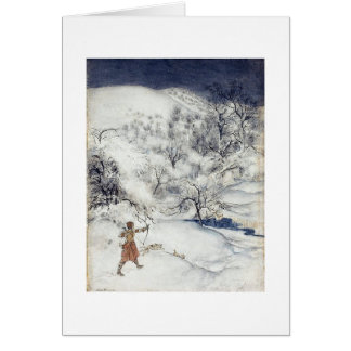 Archer in the Snow (Blank Inside) Card