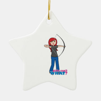 Archer - Light/Red Christmas Tree Ornament