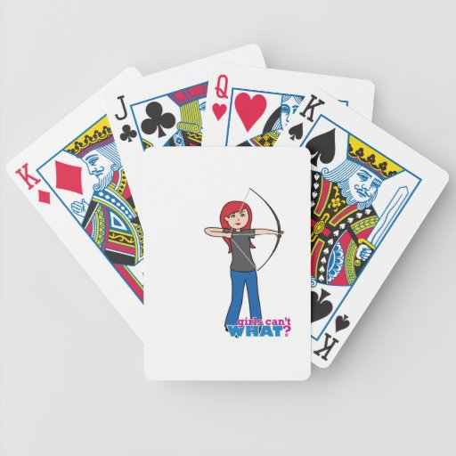Archer - Light/Red Poker Cards