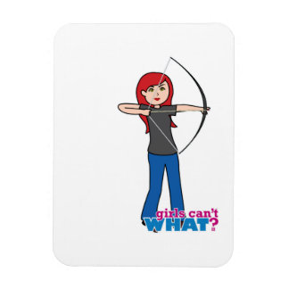 Archer - Light Red Rectangle Magnets