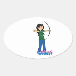 Archer - Medium Oval Sticker