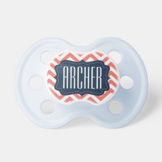 """Archer"" Personalized Name - Chevron Print Dummy"