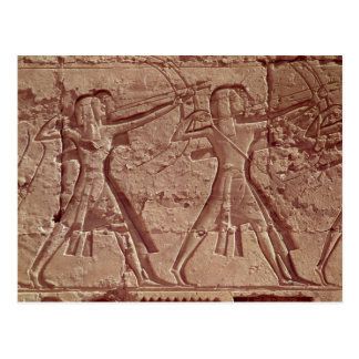 Archers, detail from the hunt of Ramesses III Postcard