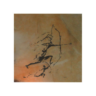 Archers of Remigia Cave Wood Print