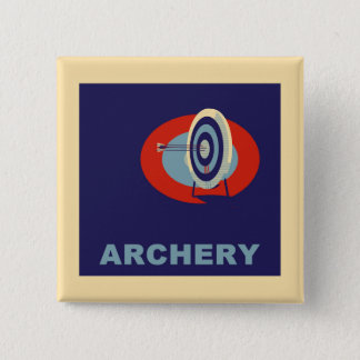 ARCHERY 15 CM SQUARE BADGE