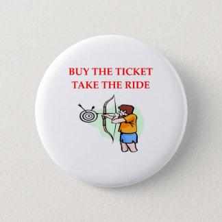 archery 6 cm round badge