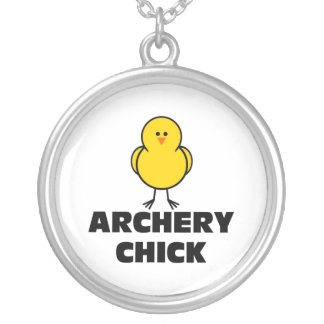 Archery Chick Silver Plated Necklace
