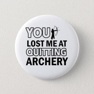 Archery designs 6 cm round badge