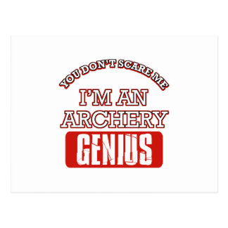 archery genius postcard