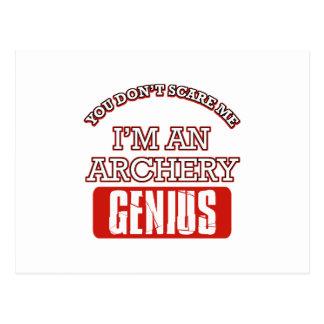 archery genius postcards