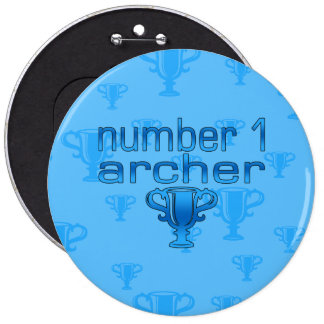 Archery Gifts for Him: Number 1 Archer 6 Cm Round Badge