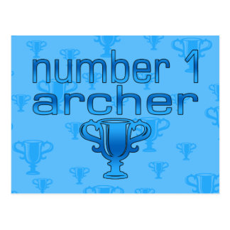 Archery Gifts for Him: Number 1 Archer Postcard