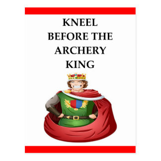Archery gifts postcard