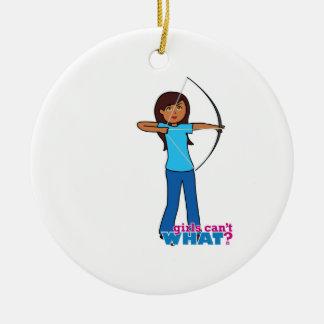 Archery Girl Ornaments