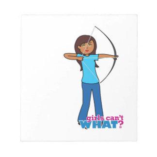 Archery Girl Memo Note Pad