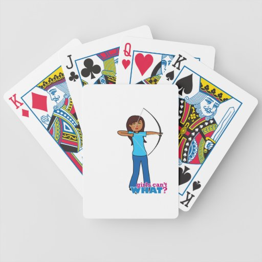 Archery Girl Deck Of Cards