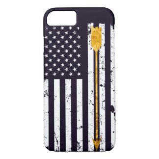 Archery Golden Arrow Distressed Flag iPhone 8/7 Case
