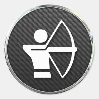 Archery Icon Classic Round Sticker