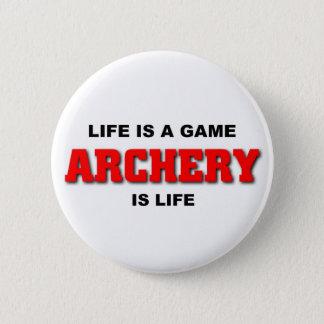 Archery is life 6 cm round badge