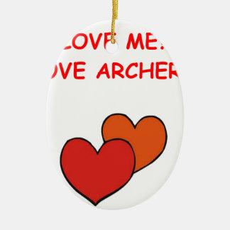 archery joke ceramic ornament