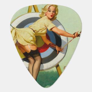Archery Pin-Up Girl Plectrum