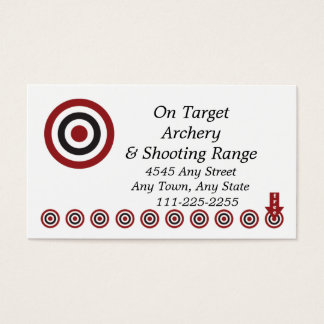 Archery Shoot Range - Customer Loyalty Punch Card