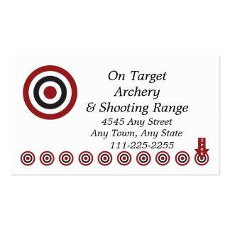Archery Shoot Range - Customer Loyalty Punch Card Business Cards