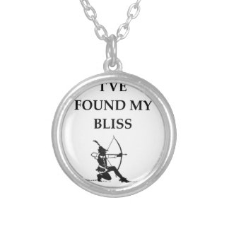 ARCHERY SILVER PLATED NECKLACE