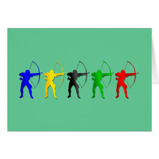 Archery Summer Games   Archer Sports Greeting Card