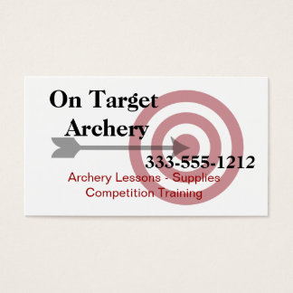 Archery Supplies and Lessons Business Card