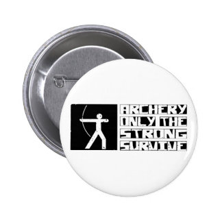 Archery Survive 6 Cm Round Badge