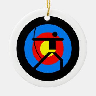 Archery Target and Archer Ceramic Ornament
