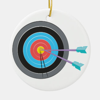 Archery Target Round Ceramic Decoration