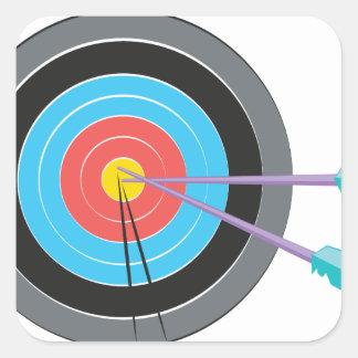 Archery Target Square Sticker