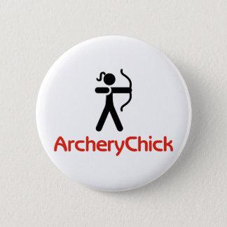 ArcheryChick Logo 6 Cm Round Badge
