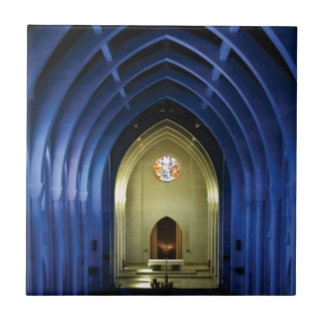 Arches in the blue church ceramic tile