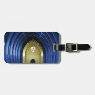 Arches in the blue church luggage tag