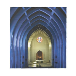 Arches in the blue church notepad