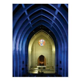 Arches in the blue church postcard