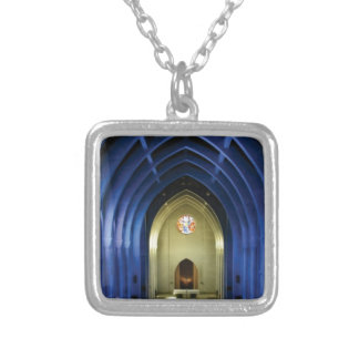 Arches in the blue church silver plated necklace