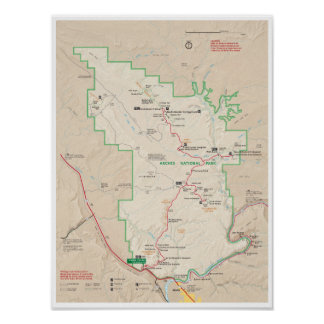 Arches map poster