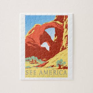 Arches National Park Colorado co Vintage Travel Jigsaw Puzzle