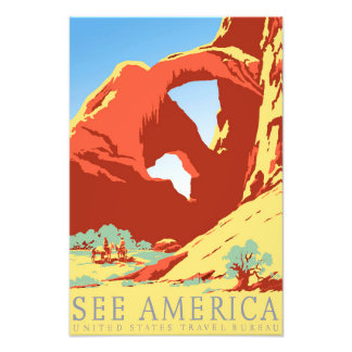 Arches National Park Colorado co Vintage Travel Photo