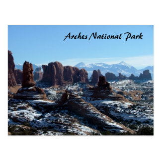 Arches National Park in Winter Postcard
