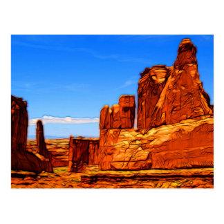 Arches National Park Rocks Postcard