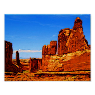 Arches National Park Rocks Poster